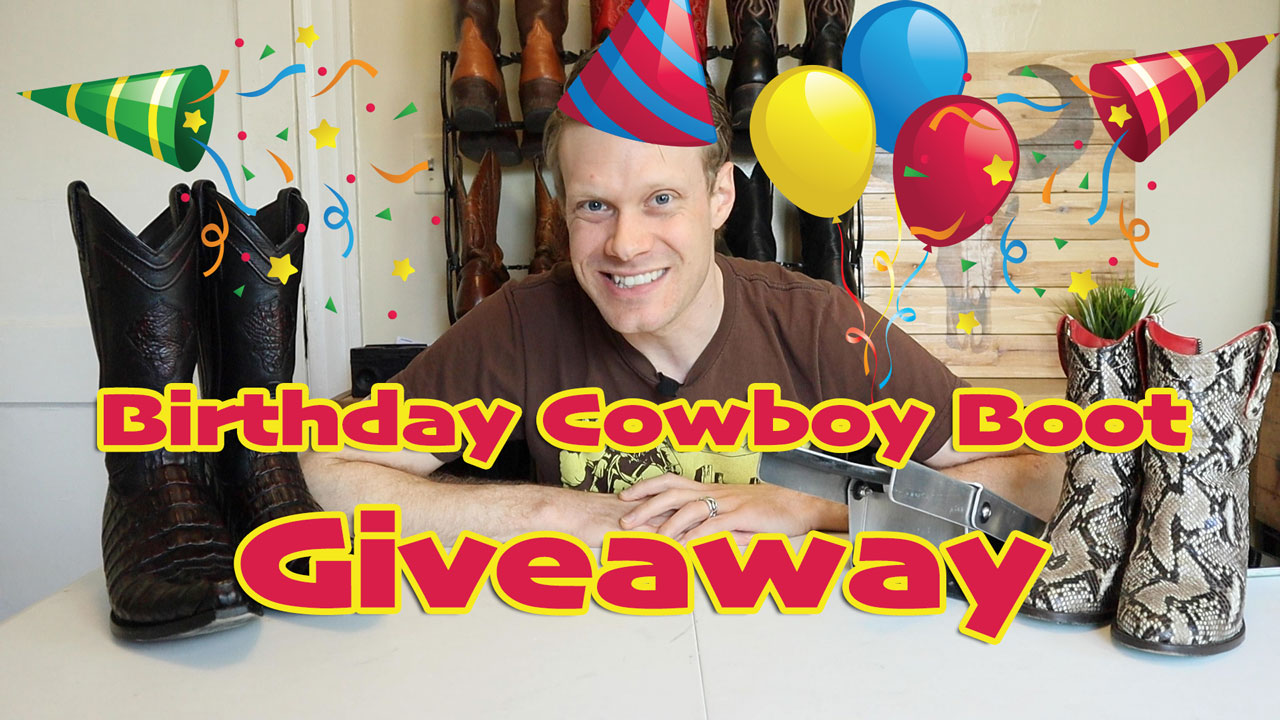 Birthday cowboy boot giveaway