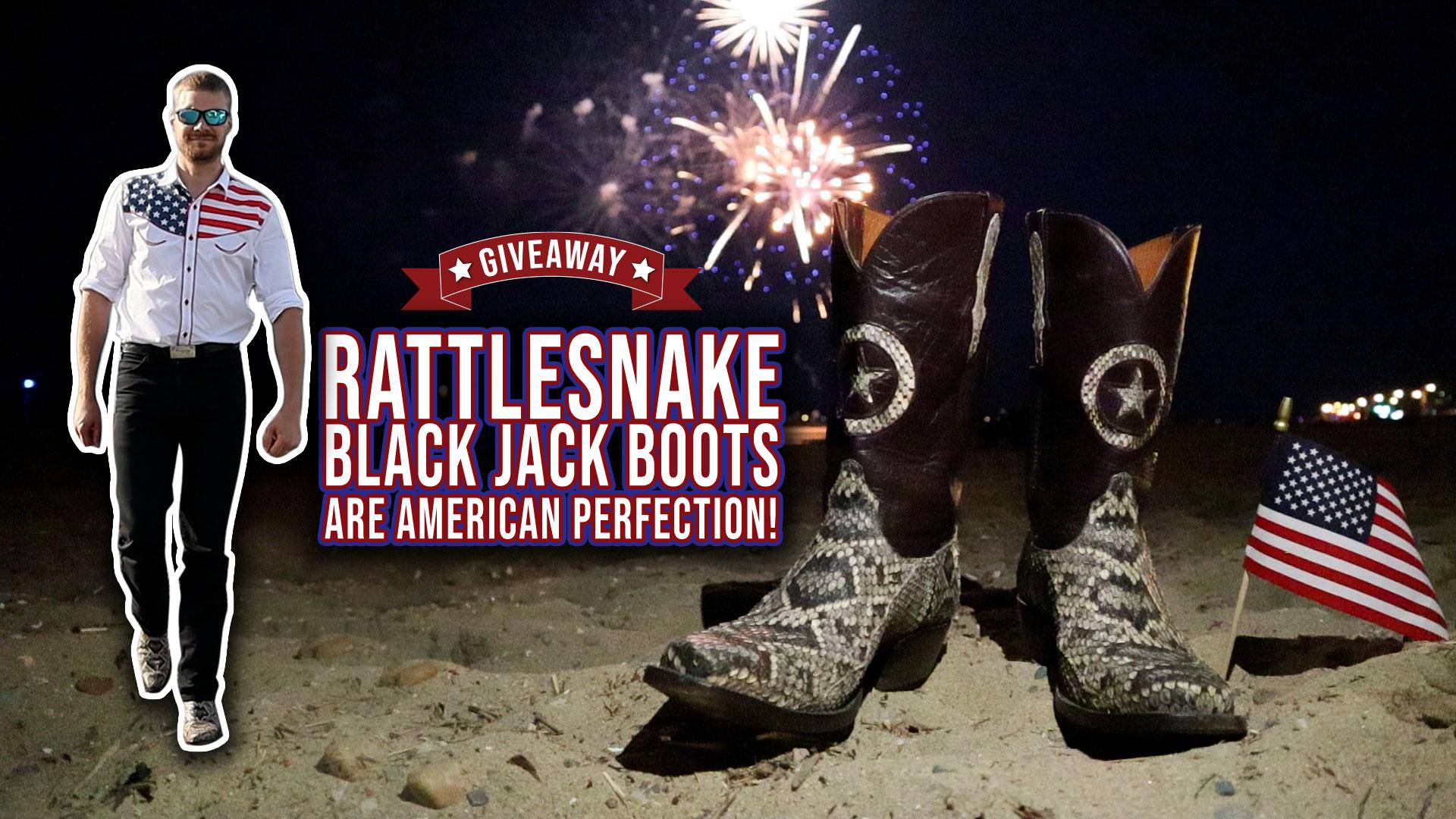 rattlesnake black jack boots giveaway